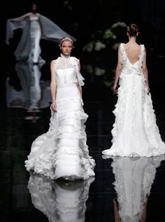 Elie Saab for Pronovias: Sumptuous Gowns Displayed at Barcelona Bridal Show