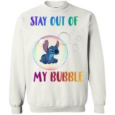Disney Stitch Stay Out My Bubble Sweatshirt - Shop Disney Stitch Sweatshirt, Earl Sweatshirt, Stitch Shirt, Graphic Sweatshirt, Lilo Y Stitch, Cute Stitch, Disney Stitch, Disney Sweatshirts, Disney Shirts