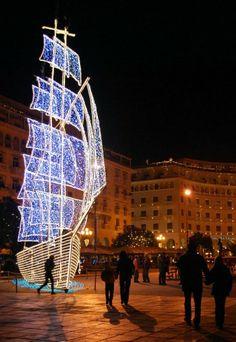 Christmas in Thessaloniki - Aristotle Square, Historical Macedonia, Greece