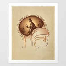 Art Print featuring Mind Reader by Enkel Dika