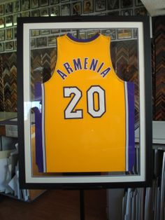Diy framing sports memorabilia learn how easy it is to custom double sided frame jersey solutioingenieria Images