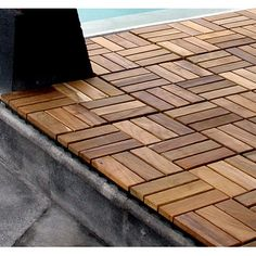 Infinita Corporation Le Click Windmill Teak Interlocking Decking Tiles In  Oiled Finish (Set Of 10