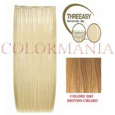 SHE KIT THREEASY 3 FASCE EXTENSION CON CLIP COLORE DB2 BIONDO CHIARO