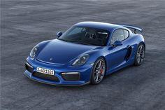 2015 Porsche Cayman GT 4 Blue Wallpaper