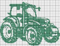 grille gratuite : un tracteur en monochrome