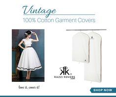 Safeguard your delicate vintage pieces in 100% Cotton Garment Bags.