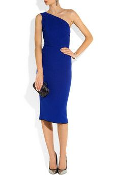 I love the and the color!  Roland Mouret | Belmont one-shoulder wool-crepe dress | NET-A-PORTER.COM
