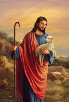 Jesus and the lost sheep Jesus Christ Painting, Jesus Artwork, Pictures Of Jesus Christ, Religious Pictures, Christian Artwork, Christian Pictures, Christ The Good Shepherd, Good Shepard, Jesus Christ Quotes