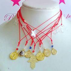 Colección Fashion Kábala, goldfilled, cristales semipreciosos, hilo chino, protección, energías positivas.