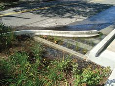 bumpouts and neckdowns are designed to capture rainwater before it runs into the city's sewers. photo courtesy NYC Parks and Recreation.
