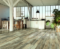 Plankwood is a glazed porcelain stoneware that replicates the look of real wood planks while offering the convenience and durability known to porcelain tiles. Shaded throughout just as are wood planks, Plankwood yields an amazing natural look to spaces when layed onto floors and walls.