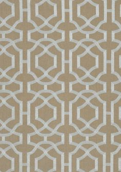 ALSTON TRELLIS EMBROIDERY, Grey on Natural, W713030, Collection Monterey from Thibaut