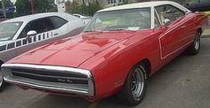 70 Dodge Charger SE (you don't see this car in red with a white top often)
