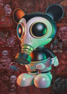 MURPHY GASMASK RETRO PILL BOX BY RON ENGLISH POPAGANDA