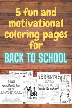 Welcome your students back to school with these 5 fun and motivational coloring pages. These are especially designed to make students feel comfortable in the new environment and get them excited for learning after such a long break from school. Teachers can use these coloring pages as: 1. ice-breaking work while welcoming students back 3. mindfulness activities for students who are either early-finishers or get overwhelmed by the new learning experience 4. as homework / bonus / reward… Back To School Activities, School Resources, Ice Breaking, School Coloring Pages, Teacher Created Resources, Mindfulness Activities, Early Finishers, New School Year, School Colors