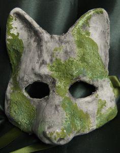 Venetian-Style Mossy Fox Mask by TwelveNightsMaskShop on Etsy