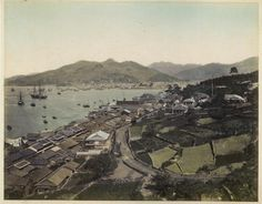 Uchida Kuichi's image of Nagasaki c. 1870 武士の島