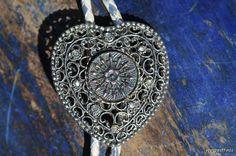 Vintage Filigree Heart Bolo Tie with Vintage by Yourgreatfinds