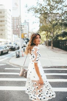 Fancy on a Monday NYC Fashion Tessa Barton embroidered dress