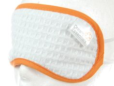 Dream Essentials Snooz Spa Collection Sleep Mask/Eye Shade Orange/ White