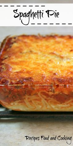 Baked spaghetti and meat sauce topped with mozzarella cheese. Try our Spaghetti Pie. Spaghetti Pie Recipes, Baked Spaghetti, Pasta Recipes, Cooking Recipes, Spaghetti Dinner, Pasta Meals, Easy Casserole Recipes, Beef Casserole, Casserole Dishes