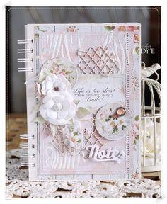 Scrap Art by Lady E: Romantyczny Notes / Romantic Notebook
