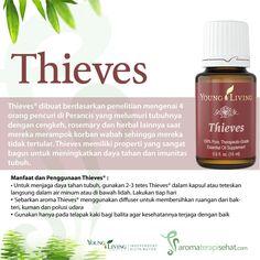Thieves essential oil untuk daya tahan tubuh, flu, batuk, pilek, anti virus, anti bakteri