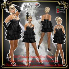 Second Life Marketplace - G&T Creations Charleston ( Flapper ) full Outfit