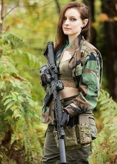 Airsoft hub is a social network that connects people with a passion for airsoft. Talk about the latest airsoft guns, tactical gear or simply share with others on this network Mädchen In Uniform, Elfa, Military Girl, Female Soldier, Female Marines, Warrior Girl, Military Women, Badass Women, Weapons