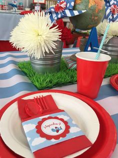 Airplanes Birthday Party Ideas | Photo 1 of 28 | Catch My Party