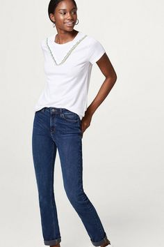 ESPRIT Stretch-Denim mit E-Loop-Stitchings für 59,99€. Stretch-Denim mit E-Loop-Stitchings, Deine Essential-Jeans für jeden Tag: Der bei OTTO