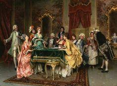 Titre de l'image : Arturo Ricci - Le jeu de cartes