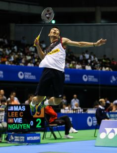 Lee Chong Wei (VOLTRIC Z-FORCE) competes in the YONEX OPEN JAPAN 2013