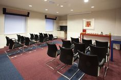 A small theater setup in our Mezzanine at Skene House Conference Suites.