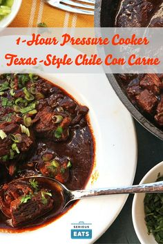 Real Texas chile con carne is all about the beef and the chilies. In ...
