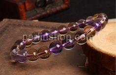 Ametrin Armband, mit elastischer Faden, rund, natürlich, glatt, frei von Nickel, Blei & Kadmium, 8mm, verkauft per ca. 6.3 Inch Strang - perlinshop.com