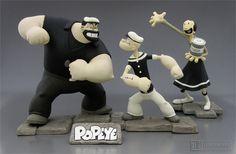 Hellboy Characters, Cartoon Characters, Popeye E Olivia, Vinyl Figures, Action Figures, Popeye The Sailor Man, Cartoon Tv, Popeye Cartoon, Mickey Mouse