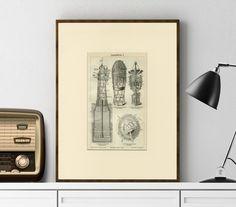 Human Blood Vessel Art Print Antique Engraving - Wall Art, Home Decor… Vintage Wall Art, Vintage Walls, Life Under The Sea, Engraving Printing, Medical Art, Vintage Medical, Antique Prints, Decoration, Dekoration