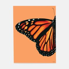 Wingin' out. Cool down and relax with one of these funky, nature-inspired prints. If its time for your decor to go through a metamorphis of its own, start here. Small Canvas Paintings, Easy Canvas Art, Small Canvas Art, Cute Paintings, Mini Canvas Art, Acrylic Painting Canvas, Easy Nature Paintings, Simple Acrylic Paintings, Painted Canvas