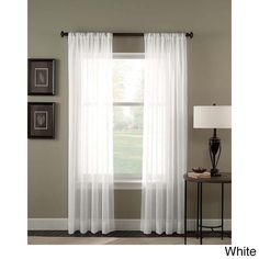 Trinity Crinkle Voile Extrawide Sheer Curtain Panel (Winter White - 95 inch), Size 95 Inches (Polyester, Solid)