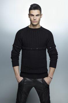 Karl Lagerfeld AW12... I love black.