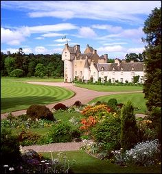 "Ballindalloch Castle, Scotland   ""Look at the long & winding road     leading to the castle."""