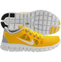 303c1f0444b Yellow Gray Livestrong Nike Free Run Running Shoes