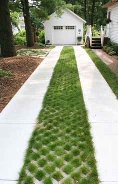 An eco-driveway is the ideal solution for reducing storm water runoff while stil. - An eco-driveway is the ideal solution for reducing storm water runoff while still providing the ben - Driveway Entrance Landscaping, Permeable Driveway, Driveway Design, Landscaping Near Me, Driveway Ideas, Diy Driveway, Gravel Driveway, Concrete Driveways, Walkway