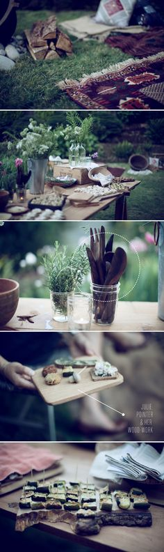 i want to put together a pretty picnic (Julie Pointer, photos by Laura Dart, via Emmadime)