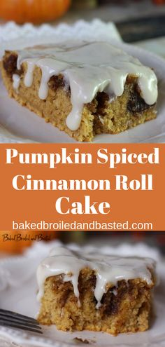 One taste of this ooey cake and you would think you have died and went to pumpkin heaven. This cake has all the flavors of fall and a pumpkin cinnamon roll without all of the work. Topped with a cream cheese frosting this is simply fantastic. #pumpkinspice,#pumpkineverything,#pumpkincinnamonroll,#pumpkincinnamonrollcake
