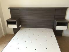 Juego de dormitorio y base de cama con cajones laterales