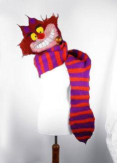 Felted Scarf cat Scarf ALICE IN WONDERLAND Art Shawl