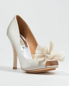 5b2277be1194 Badgley Mischka - Aubrey - Peep-toe Pump Bridal Shoes Badgley Mischka Shoes  Wedding