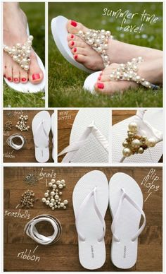 35 Unique DIY Wedding Party Gifts That Your Bridesmaids And Groomsmen Will Love party night 35 Unique DIY Wedding Party Gifts That Your Bridesmaids And Groomsmen Will Love Bridesmaid Flip Flops, Wedding Flip Flops, Beach Wedding Sandals, Wedding Shoes, Gifts For Wedding Party, Diy Wedding, Party Gifts, Handmade Wedding, Flip Flop Craft